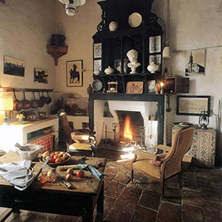 The kitchen loubens lauragais castle toulouse area france - Cuisine de charme ancienne ...